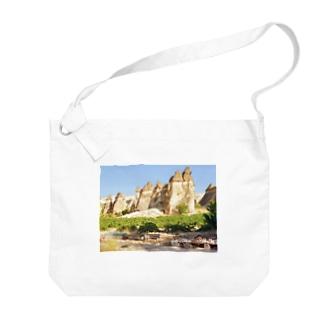トルコ:カッパドキアの妖精の煙突 Turkye: Fairy Chimneys rock formation near Göreme, in Cappadocia Big shoulder bags