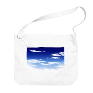 青空(手描き) Big shoulder bags