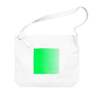 緑グラデーション Big shoulder bags
