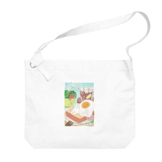 プティと朝食 Big shoulder bags
