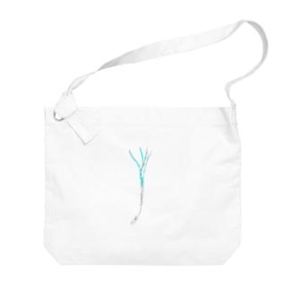 のびる Big Shoulder Bag