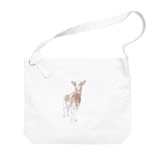 レッドの牛は特別扱いしたくなる Big shoulder bags