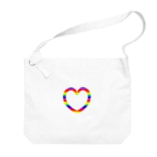レインボーハート♡ Big shoulder bags