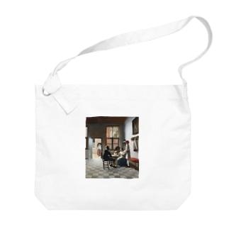 ピーテル・デ・ホーホ《陽の射す部屋でトランプに興じる人々》 Big Shoulder Bag