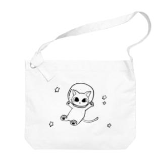 宇宙ネコチャン Big Shoulder Bag