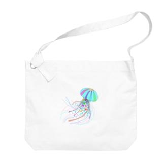 Colorfulジェリーフィッシュ Big shoulder bags