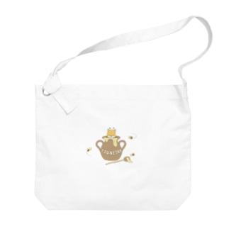 つねたんとミツバチ Big Shoulder Bag