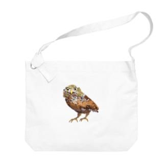 フクロウ Big shoulder bags