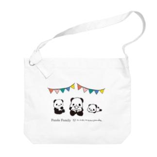 パンダファミリー(ニンキモノパンダ) Big Shoulder Bag