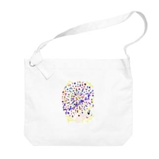 アフロちゃん花火 Big shoulder bags