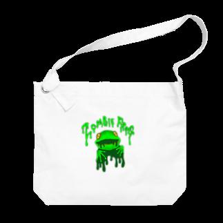 れなしやのZombie frog Big shoulder bags