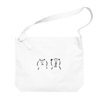 猫と犬 Big shoulder bags