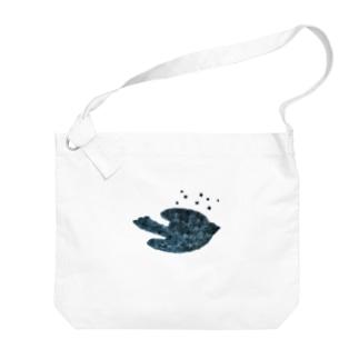 陶器絵夜空のトリさん Big Shoulder Bag