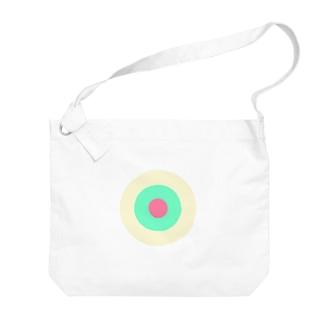 サークルa・クリーム・ペパーミント・ピンク2 Big Shoulder Bag