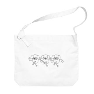 ドッグちゃん(3連) Big shoulder bags