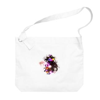 金魚花_煌color Big Shoulder Bag