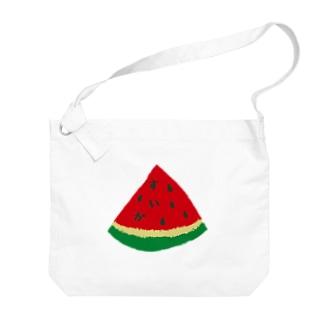 スイカ Big shoulder bags