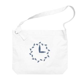 時計/grass Big Shoulder Bag