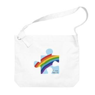 にじパズル Big Shoulder Bag