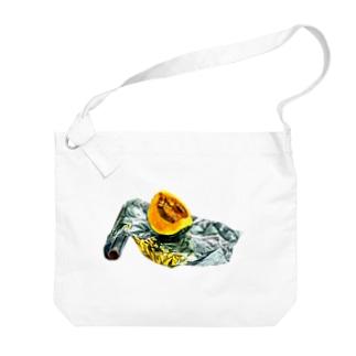 かぼちゃとアルミホイル(枠なしver) Big Shoulder Bag