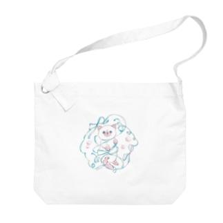 ぐるぐる子猫 Big Shoulder Bag
