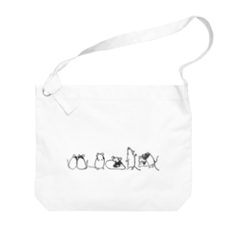 パンダマウスたち ライン Big Shoulder Bag
