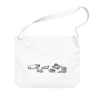 古代生物たち ライン Big Shoulder Bag