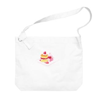 にゃんこ&食《ショートケーキの日》 Big Shoulder Bag