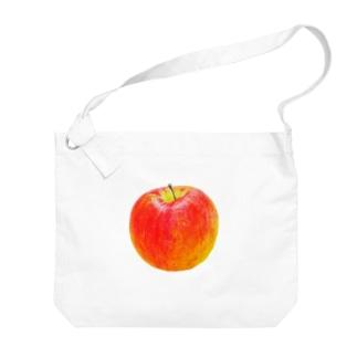 いろえんぴつリンゴ Big shoulder bags