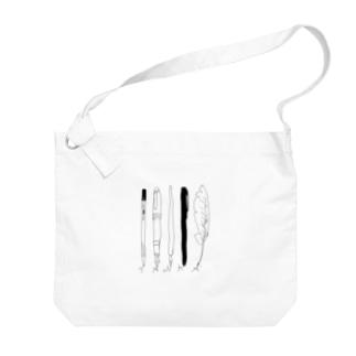 tanka/pens Big shoulder bags