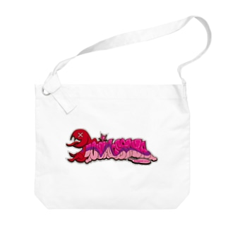 一ノ瀬彩:LOGO_POP_PINK【英語】 Big shoulder bags