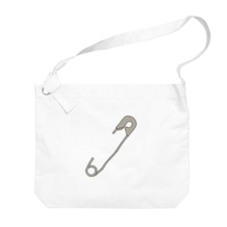 安全ピン Big shoulder bags