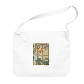 本所深川絵図 Big shoulder bags