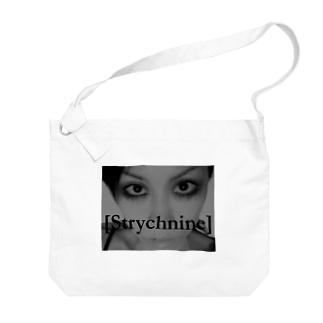 [Strychnine] zAkro フォトカード柄~弐~(モノクロ) Big shoulder bags