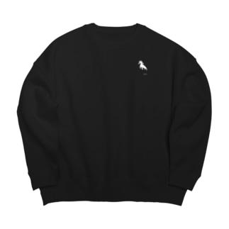 taro.ワンポイント。ブラック Big silhouette sweats