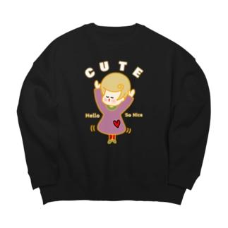 キューティーガール! Big Crew Neck Sweatshirt