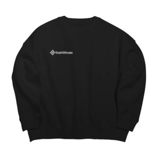SophiSticate ロゴスウェット ブラック/ネイビー Big silhouette sweats