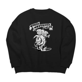 """""""WHITE MUSTACHE CLUB""""(タイトルなし)) Big Crew Neck Sweatshirt"""