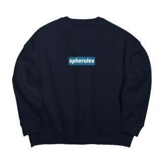 spherules_blue Big silhouette sweats