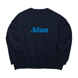 .blue Big silhouette sweats