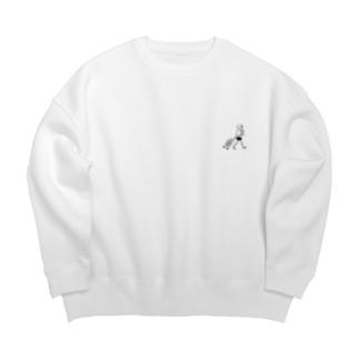 帰国子女Tシャツホワイト Big silhouette sweats