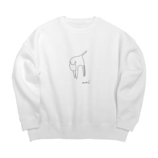 ねこTシャツ Big silhouette sweats