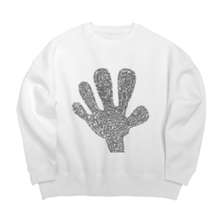 Big Hand SWEAT White Big silhouette sweats