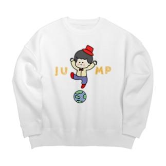じゃーんぷ! Big Crew Neck Sweatshirt