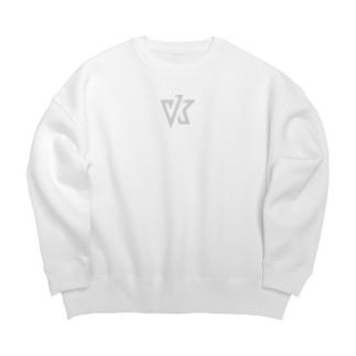 VK ロゴ ライトグレイ Big silhouette sweats
