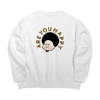 あーゆーはっぴー? Big Crew Neck Sweatshirt