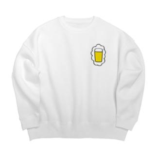 頭の中はビールでいっぱい Big silhouette sweats