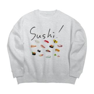 Sushi! POPなお寿司! Big silhouette sweats
