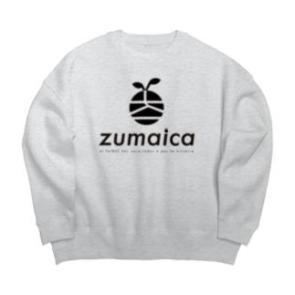 zumaica Black スペイン語 Big silhouette sweats