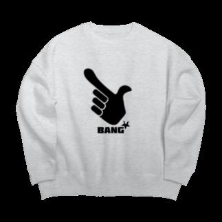 AliviostaのBANG 指でピストル ロゴ Big silhouette sweats